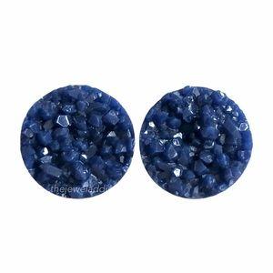 3/$15🎀navy blue faux druzy earrings
